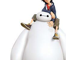 Big Hero 6's Hiro and Baymax by JakeyJurin
