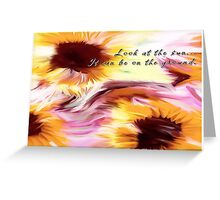 Sun On The Ground Greeting Card