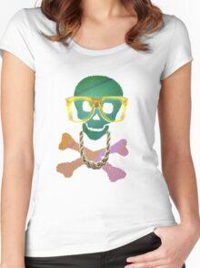 Retro Skull Women's Fitted Scoop T-Shirt
