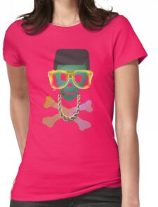Retro Skull with Hightop Womens Fitted T-Shirt