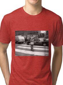 New York Street Photography 40 Tri-blend T-Shirt