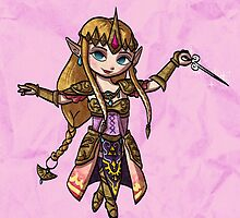 Toon Warrior Princess by skywaker