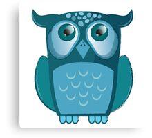 blue night owl Canvas Print
