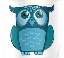 blue night owl Poster