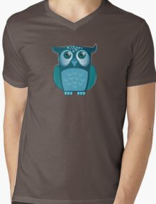 blue night owl Mens V-Neck T-Shirt