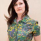 Sarah in a green dress by Elana Bailey