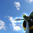 Bright future by windmill