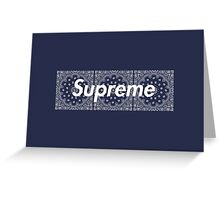 Supreme Navy TNF Media Cases, Pillows, and More. Greeting Card