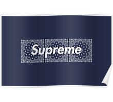 Supreme Navy TNF Media Cases, Pillows, and More. Poster