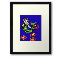 Clawdia the Mermaid Framed Print