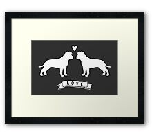 American Staffordshire Terriers in Love Framed Print