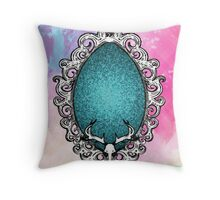 Paint and Antlers Throw Pillow