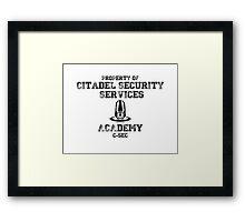 C-SEC Academy Framed Print