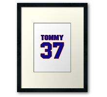 National football player Tommy Casanova jersey 37 Framed Print