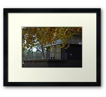 Autumn Boat House... Framed Print
