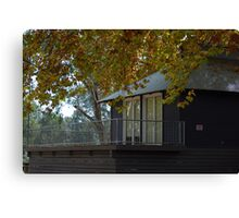 Autumn Boat House... Canvas Print