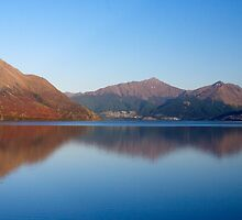 Mountains over Lake Wakatipu by Ken Q