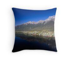 Mountains over Mirror Lake Throw Pillow