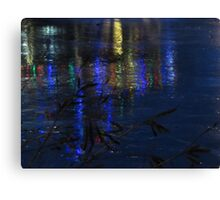 Christmas Lights on Ice Canvas Print