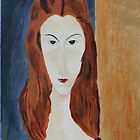 Jeanne (After Modigliani) by mrbpaints