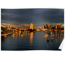 Reflections - The Moods of A City #12 - The HDR Series, Sydney Australia Poster