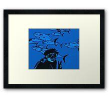 Jotaro at Work Framed Print