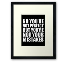 No You're Not Perfect - Kanye West Framed Print