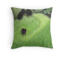 The Black Beast of Montague Road Throw Pillow
