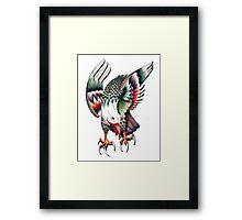Pen Eagle Framed Print