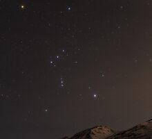 Orion over Eklutna by Joe Scialabba