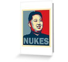 Kim Jong-un NUKES Greeting Card