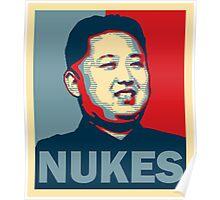 Kim Jong-un NUKES Poster