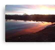 Chromatic Sky and Water Reflection Canvas Print