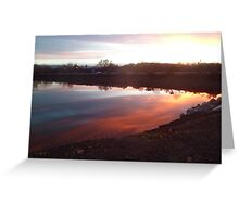 Chromatic Sky and Water Reflection Greeting Card