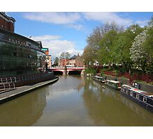 Canalside in the centre of Leicester Photographic Print