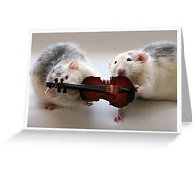 Playing the violin together :) Greeting Card