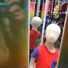 faceless child window display by cherie hanson