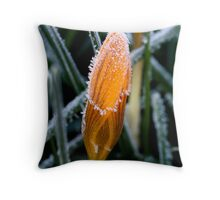 Frosted Crocus Throw Pillow