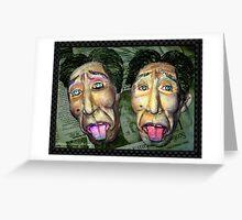 """I feel sick"" The Twin Face Greeting Card"
