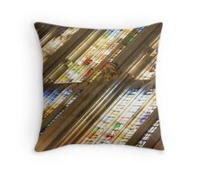 Stained Glass Windows Throw Pillow