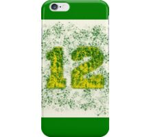 Abstract Twelve Paint Splatter - Green On Yellow iPhone Case/Skin