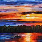 Fishing by the Sunset by LeonidAfremov