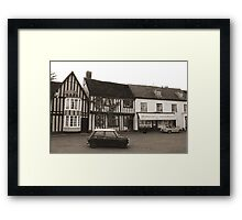 Old Houses Old Cars Framed Print