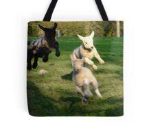 Leaping Lambs Tote Bag