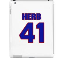 National football player Herb Christopher jersey 41 iPad Case/Skin