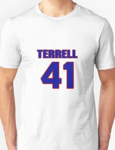 National football player Terrell Fletcher jersey 41 T-Shirt