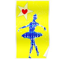 Blue and yellow ballerina Poster