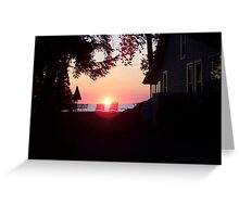 Sunset in Sylvan Beach Greeting Card