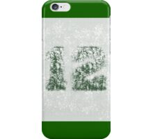 AbstracTwelve Paint Splatter - White On Dark Green iPhone Case/Skin