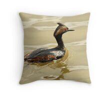 Eared Grebe - Farmington Bay, Utah Throw Pillow